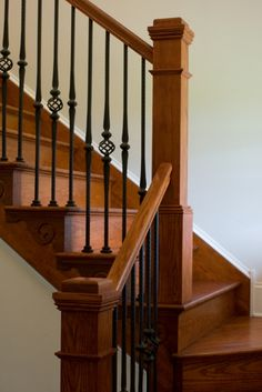 also love this type stairs with the wrought ironish type rungs
