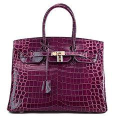 Ainifeel Women's Patent Leather Crocodile Embossed Top Handle Handbags (30cm, Purple) Ainifeel http://www.amazon.com/dp/B015NCWUAC/ref=cm_sw_r_pi_dp_HOcAwb0817KRY