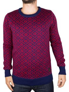 Scotch & Soda Blue/Red Micro Knitted Sport Knit