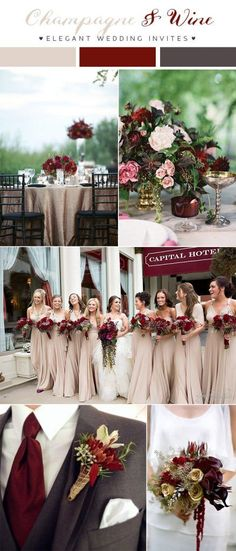 wine red and dark grey wedding color combo ideas for 2018