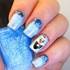 It's all about the polish: AN Monday theme - Disney - Olaf from Frozen nail design