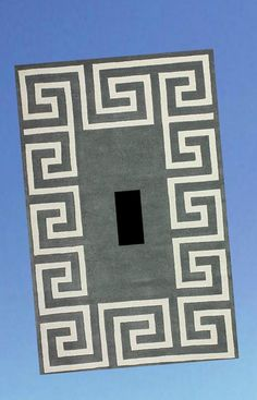 details about greek key grey light switch plate cover greek home decor outlets phone jack - Home Decor Outlets