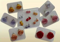 Quilled stud earrings. The options are endless! | Handmade by Lorena D (FB)