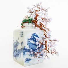 Our BESTSELLER... Quality handmade crystal bonsai tree made with blue lace agate stones attached to copper wires and twisted to perfection. More at www.crystalbonsai.com