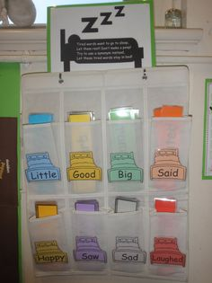 Tired Words interactive classroom display--Let the poor words take a rest! Teacher could point students to organizer when revising and editing. Literacy Display, Teaching Displays, Class Displays, Classroom Displays, Interactive Display, Primary School Displays, Year 2 Classroom, Ks1 Classroom, Primary Classroom