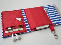 Nerd Herder gadget wallet in Notes Afloat for iPhone 5, Android, iPod, Blackberry, digital camera, smartphone, guitar picks