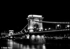 The Chain Bridge - Budapest, Hungary. Budapest Hungary, Best Cities, Tower Bridge, Four Square, Street Photography, Places Ive Been, Chain, City, Travel