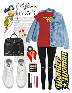 """""""Casual Wonder Woman"""" by missnidy on Polyvore featuring Topshop, Vans, Forever 21, Yves Saint Laurent, MAC Cosmetics, Maybelline, Lancôme and Nanette Lepore"""