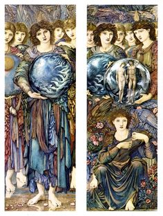 The Angels of Creation ~ Days 5 and 6 ~ 1875-1876,  Edward Burne-Jones