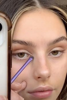 Asian Eye Makeup, Edgy Makeup, Makeup Eye Looks, Natural Eye Makeup, Skin Makeup, Eyeshadow Makeup, Natural Skin, Grunge Makeup Tutorial, Makeup Looks Tutorial