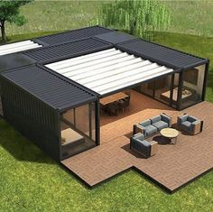 Shipping Container Buildings, Shipping Container Home Designs, Container House Design, Modern Tiny House, Tiny House Design, Container Architecture, Architecture Design, Casas Containers, Building A Container Home