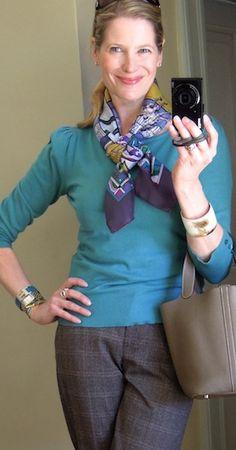 Hermès scarf in a friendship knot