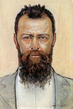 The Athenaeum - Self portrait (Ferdinand Hodler - No dates listed)