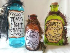 NIGHTMARE before Christmas Sally POTION by beyondthepoisonapple.I love Tim Burton's nightmare before Christmas:) Halloween Town, Holidays Halloween, Halloween Crafts, Holiday Crafts, Holiday Fun, Happy Halloween, Halloween Decorations, Bottle Decorations, Halloween Witches