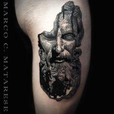 Scultura tattoo etching Marco C. Matarese