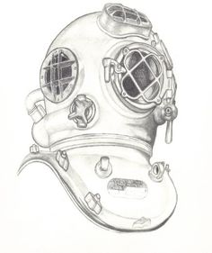 My Divers Helmet and Graphite drawings