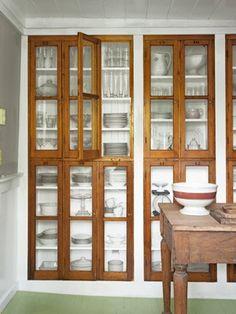 Repurposed Windows (shelves behind coffee bar?)