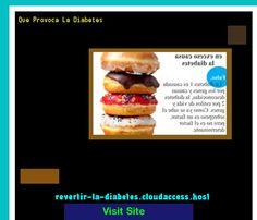 Que Provoca La Diabetes 190350 - Aprenda como vencer la diabetes y recuperar su salud.