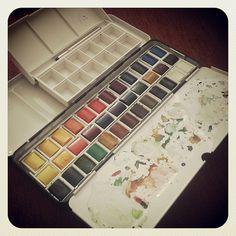 Watercolors boxes   Flickr - Photo Sharing!