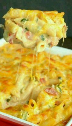 Bacon Ranch Chicken Cheesy Pasta bake