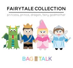 FAIRYTALE Printable Paper Bag Puppet Cut Outs by BagTalk on Etsy, $4.00