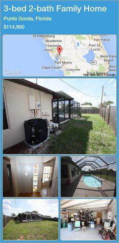 3-bed 2-bath Family Home in Punta Gorda, Florida ►$114,900 #PropertyForSaleFlorida http://florida-magic.com/properties/30273-family-home-for-sale-in-punta-gorda-florida-with-3-bedroom-2-bathroom