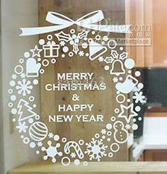 Wholesale Window Stickers - Buy 2012 NEW Christmas Star Flower Shop Window Glass Globe Decorative Christmas New Year Free Shipping, $5.54 | DHgate