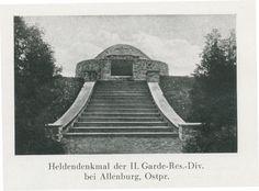 Allenburg, Stadt, Heldendenkmal der II. Garde-Res.-Div.