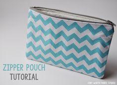 zipper pouch sewing tutorial