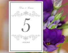 Wedding Template Diy Place Cards Plum Damask Wedding Place Cards