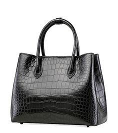 Women's Alligator Leather Handbag Tote Shoulder Bag Crossbody Purse Black Leather Bags, Cow Leather, Tote Handbags, Leather Handbags, Womens Designer Bags, Clutches, Shopping Bag, Totes, Shoulder Bag