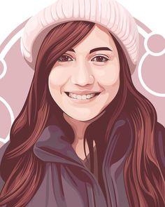 Portrait Vector, Digital Portrait, Portrait Art, Portraits, Illustration Vector, Portrait Illustration, Vector Design, Vector Art, Color Vector
