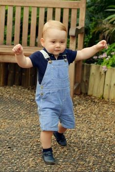 British Royals via Twitter-New photo of Prince George released to mark his first birthday, July 22, 2014. The photo by John Stillwell was taken July 2 at the Natural History Museum Butterfly Exhibit.