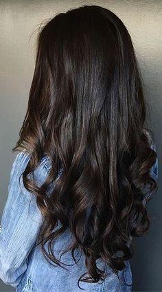 dark chocolate brunette hair color - stunning
