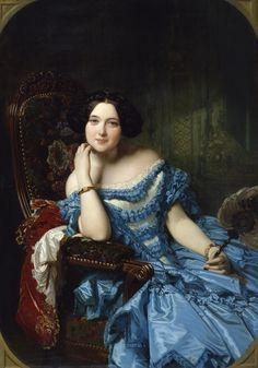 Portrait of Amalia de Llano y Dotres, Countess of Vilches (1853) by Federico de Madrazo.