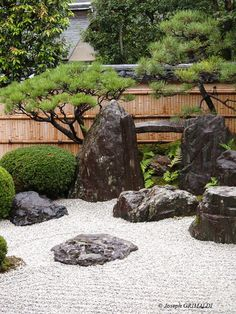 There is a variety of elements used throughout a Japanese garden, but the three most important and basic ones that you will find in every garden design are: Zen Rock Garden, Zen Garden Design, Landscape Design, Modern Landscaping, Backyard Landscaping, Modern Japanese Garden, Japanese Gardens, Japan Garden, Garden Trees
