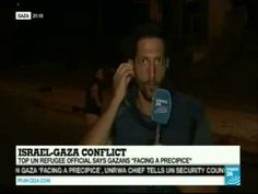 Hamas rocket fires next to reporter on live TV and he high tails it out of there.