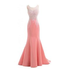 bacfce2b834b4 Beautiful Mermaid Formal Evening Gowns Sweetheart Sleeveless Beaded Floor  Length Pink Long Evening Dress 2015 New
