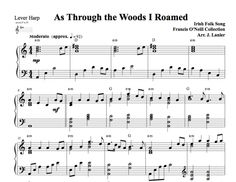 $3.00 Harp Music: As Through the Woods I Roamed for Harp in A Minor