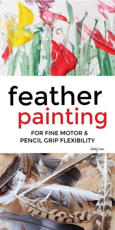 Feather painting with kids is a lovely simple kids painting, process art and nature craft activity that develops shape spotting and pattern matching skills whilst building fine motor and pencil grip strength. Painting Activities, Nature Activities, Art Therapy Activities, Craft Activities, Creative Activities, Activity Ideas, Fine Motor Activities For Kids, Toddler Activities, Kids Motor