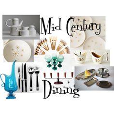 Mid Century Dining! by #vintageandmain #midcentury #retro #tablescape #tableware #flatware #vintage #homedecor #entertaining #dining