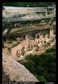 Picture/photo (Anasazi Ruins): Cliff Palace, late afternoon. Mesa Verde National Park, Colorado, USA.