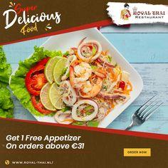 Unlock great deals on ordering authentic oriental cuisines from us. Bon Appetite! . . . . . #SafetyFirst #OnlineOrder #FreeDelivery #Thai #ThaiFoods #ThaiDishes #Cuisines #FoodPorn #Foodie #ThaiCuisine #Restaurant #Yummy #Delicious #ThaiFoodLover #FoodLovers #FoodBlogger #SeaFood #ThaiRestaurant #RoyalThai #HygienicEnvironment Best Thai Restaurant, Authentic Thai Food, Thai Dishes, Thai Recipes, Fresh Rolls, Bon Appetit, Amsterdam, Seafood, Oriental