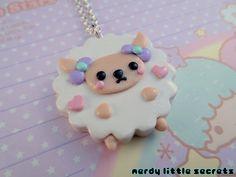 Fairy Kei Kawaii Lamb Necklace by NerdyLittleSecrets on Etsy, $9.00