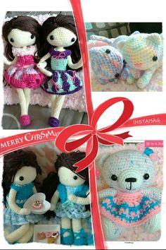 my crochet dolls :Merry Christmas everyone!!!