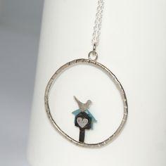 Bird box necklace