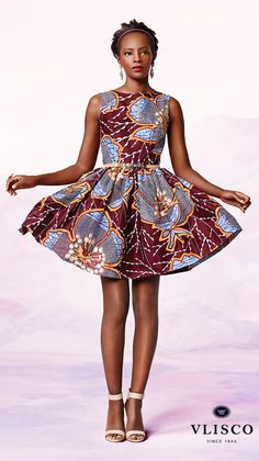 Vlisco, Dutch Wax textile company. FLOWER FRESH | inspirational party dresses for wedding occasions | #vlisco #wedding