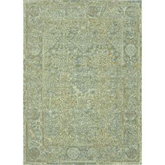 @Overstock - The all-new Royalty is a custom, machine-made rug that uses intricate shading and color blending that lends a soft, soulful feel. The result is an Old World, vintage-looking rug that is romantic and sophisticated, sure to compliant any home décor.http://www.overstock.com/Home-Garden/Royalty-Beige-Blue-Rug-77-x-105/7648090/product.html?CID=214117 $425.57