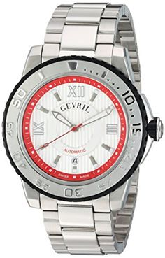 Gevril Men's 3113B Seacloud Analog Display Automatic Self Wind Silver Watch