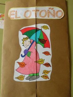 Del otoño Autumn Crafts, Fall Crafts For Kids, Art For Kids, Kid Crafts, Fallen Book, Craft Activities, School Projects, Language Arts, Spanish